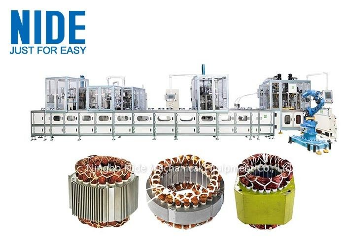 Automatic three phase electric motor stator production line