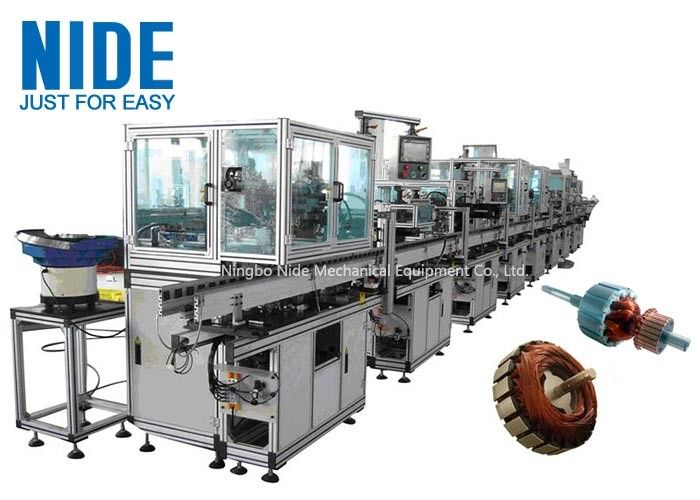 RAL9010 Electric Motor Production Line Armature Auto Winding Machine